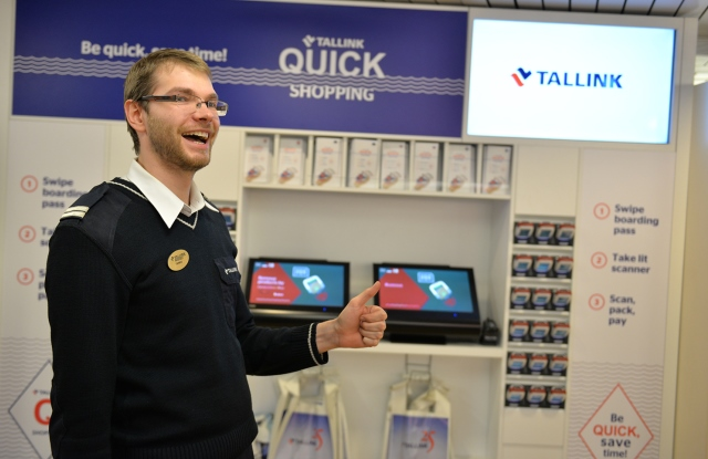 Tallink launches the self-shopping solution named Q-Shopping in the Supermarket of the fast ferry Star sailing between Helsinki and Tallinn.