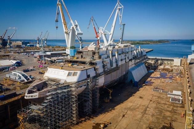 Photos of MyStar at Rauma Marine Constructions' shipyard Photos by Sammeli Korhonen